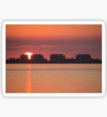 Big Orange Sun Sticker