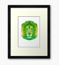 Poly Lion - Lemon and Lime Framed Print