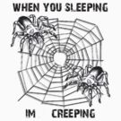 when you sleeping with spiders by inksanity