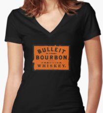 Bulleit Bourbon Women's Fitted V-Neck T-Shirt