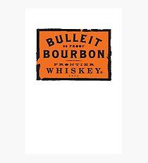 Bulleit Bourbon Photographic Print