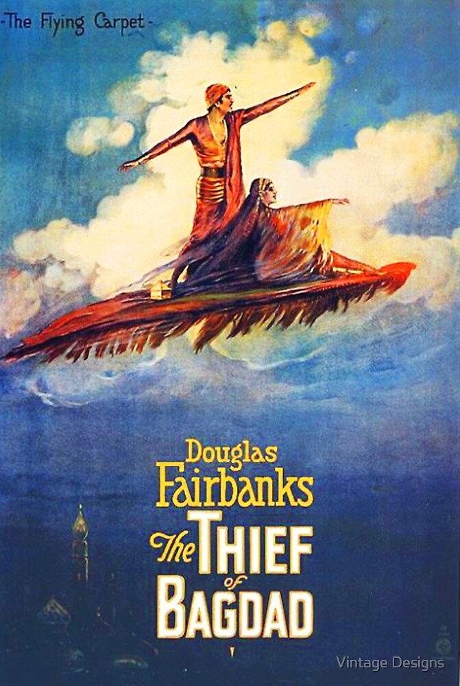 The Thief of Bagdad classic 1920's poster by Vintage Designs