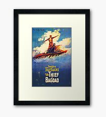 The Thief of Bagdad classic 1920's poster Framed Print