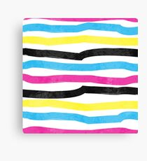 Striped Colorful Pattern Canvas Print
