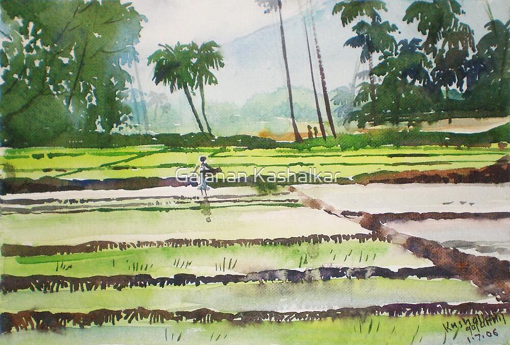 green field by Gajanan Kashalkar