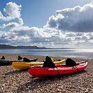 Kayaks At Lyme Regis Seafront by Susie Peek