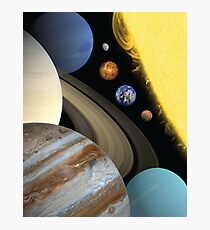 Solar System (to scale) Photographic Print