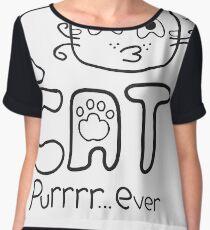 I Love Cat Purrrr... Ever (One Color) Chiffon Top