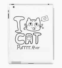 I Love Cat Purrrr... Ever (One Color) iPad Case/Skin