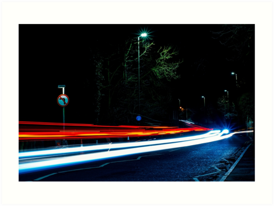 Long Exposure of Cars Passing By by Sam Norman