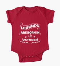 Legends are born in october One Piece - Short Sleeve