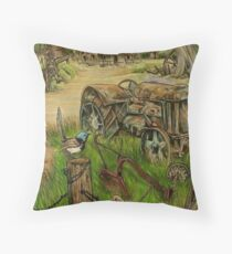 Jacaranda Station Throw Pillow