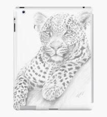 Leopard on log iPad Case/Skin
