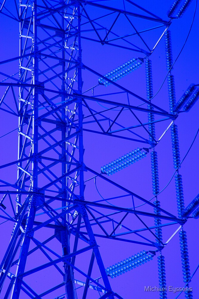 Electric Blue Tower by Michael Eyssens