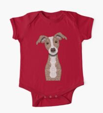 Cute Italian Greyhound - Fawn & White colored One Piece - Short Sleeve