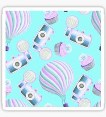 Fairy Cakes Cameras and Hot Air Balloons Pattern Sticker