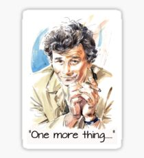 """One more thing....."" Sticker"