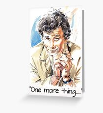 """One more thing....."" Greeting Card"