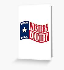 Texas USA Western Country Music Greeting Card