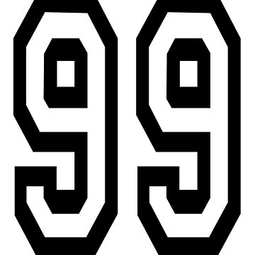 99, TEAM, SPORTS, NUMBER 99, Ninety Nine, Competition by TOMSREDBUBBLE