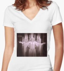 Maria in Fritz Lang's Metropolis  Women's Fitted V-Neck T-Shirt