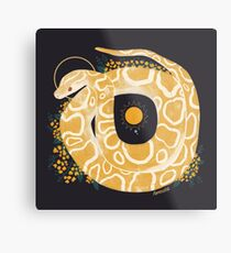 Familiar - Burmese Python Metal Print