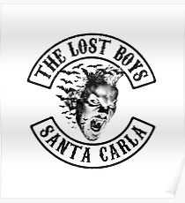 The Lost Boys - Sons B&W Mashup Poster
