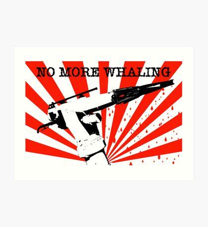 No More Whaling Art Print