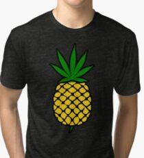 Ananas-Unkraut-Blatt (hochklappen) Shirt Vintage T-Shirt