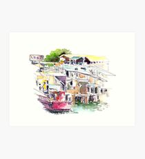 Lee Yu Mun Fishing Village  Art Print