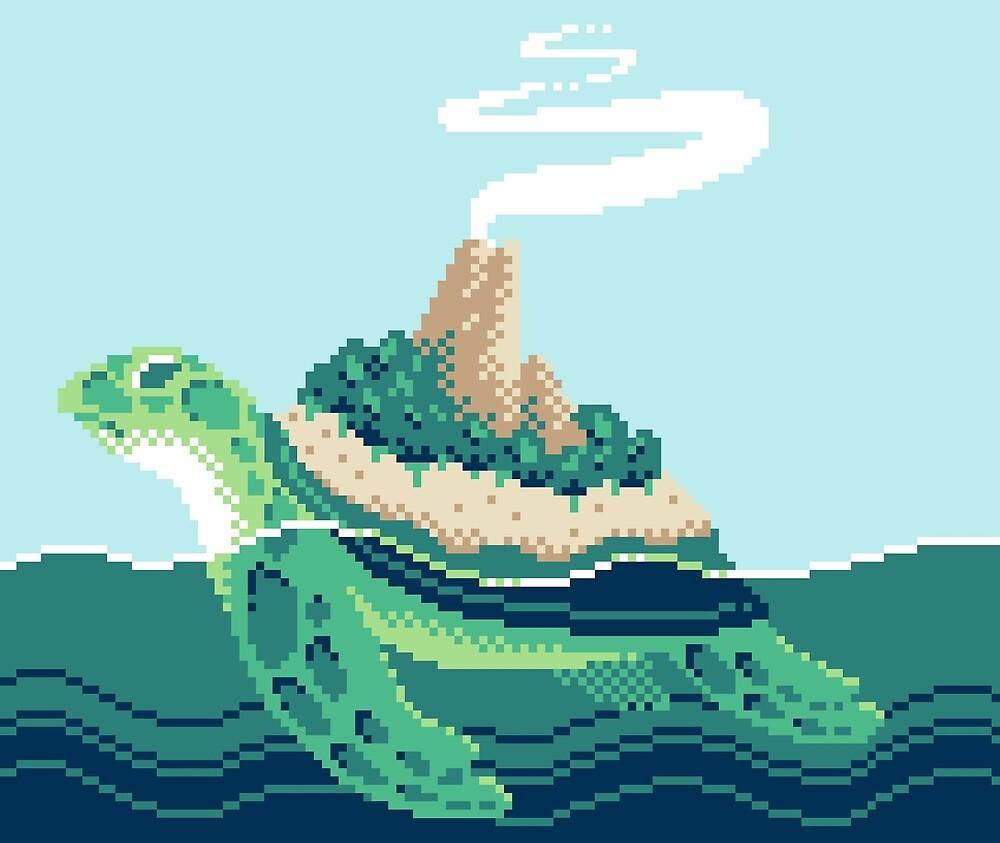Gentle sea monster (Pixel) by Malevolentmask