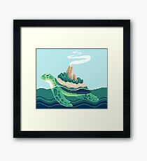 Gentle sea monster (Pixel) Framed Print