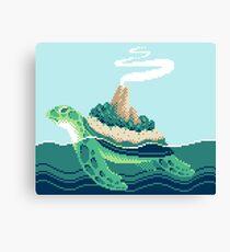Gentle sea monster (Pixel) Canvas Print