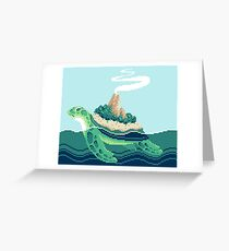Gentle sea monster (Pixel) Greeting Card