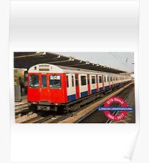 D78 London Underground tube train Poster