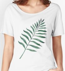 Tropical Greenery - Palm Tree Leaf Women's Relaxed Fit T-Shirt