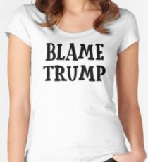 Political Anti-System Donald Trump Punk Cool Riot T-Shirts Women's Fitted Scoop T-Shirt