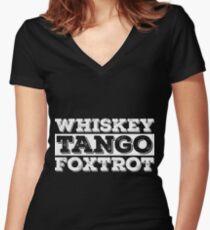 Whiskey, Tango, Foxtrot Women's Fitted V-Neck T-Shirt