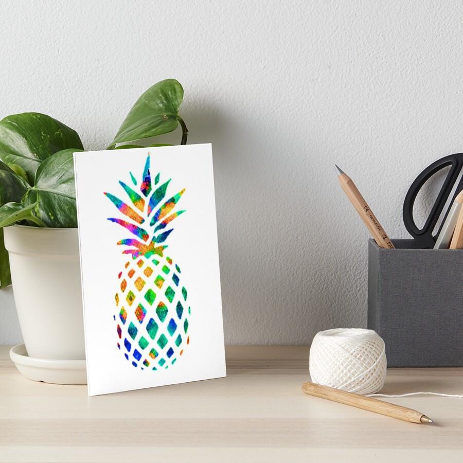 Rainbow Pineapple Art Board Print
