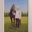 David's daughter and her horse by Brian Towers