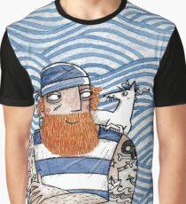 Seemann mit Seehund - Seaman With Seadog Graphic T-Shirt