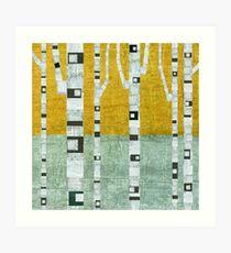Early Winter Birches Art Print
