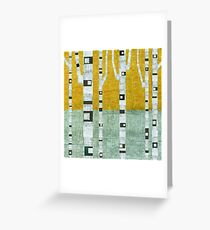 Early Winter Birches Greeting Card