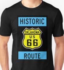 HISTORIC ROUTE 66: Vintage Highway Print Unisex T-Shirt
