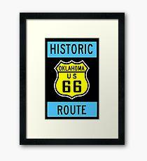 HISTORIC ROUTE 66: Vintage Highway Print Framed Print
