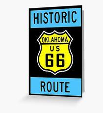 HISTORIC ROUTE 66: Vintage Highway Print Greeting Card