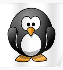 Penguin, Cartoon, FUN, FUNNY, COMIC, JOKE, LAUGH,  Poster