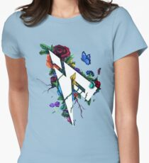 Pamaj Austin Flower Logo Womens Fitted T-Shirt