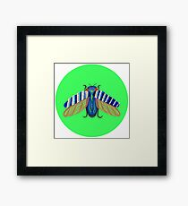 Fly on the Wall - Green Framed Print
