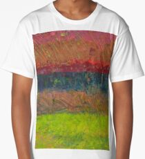 Abstract Landscape Series - Lake And Hills Long T-Shirt